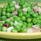 Zielony groszek z pancettą